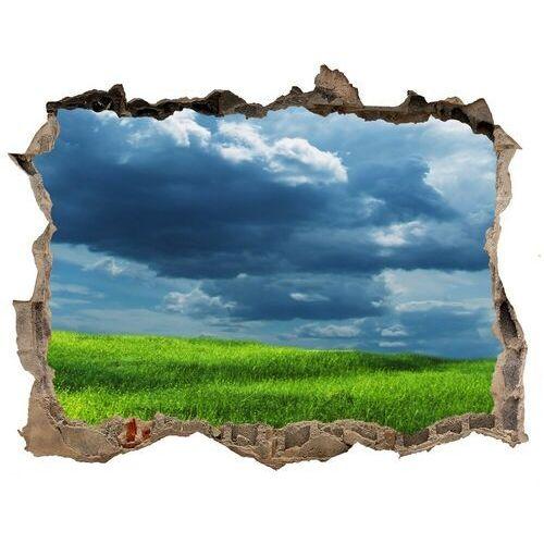 Dziura 3d w ścianie naklejka Burzowe chmury
