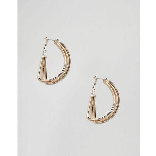 Monki multi ring hoop earrings in gold - Gold