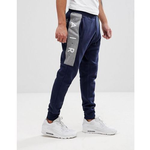 Nike Air Joggers In Skinny Fit In Navy 886048-452 - Navy, kolor szary
