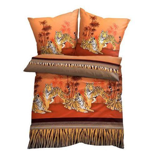 Bonprix Pościel w tygrysy brązowy