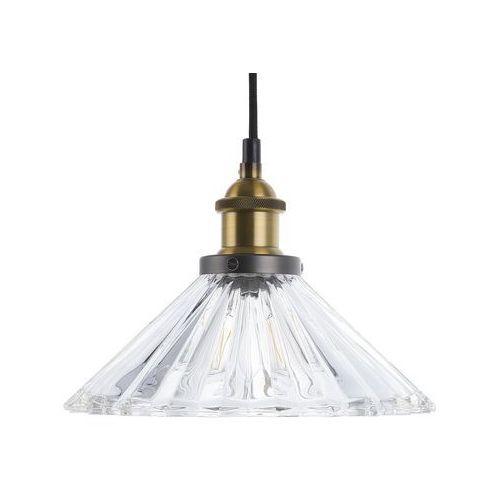 Beliani Lampa wisząca mosiężna/szklana colorado