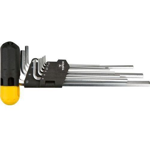 Zestaw kluczy sześciokątnych TOPEX 35D962 z uchwytem 1.5 - 10 mm (9 elementów)