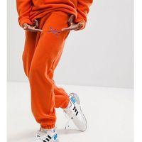 Reclaimed vintage inspired trousers in orange fleece - orange