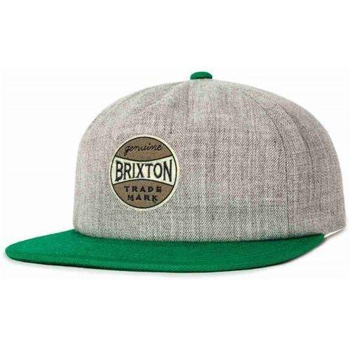 czapka z daszkiem BRIXTON - Humphrey Cap Heather Grey/Green (0381) rozmiar: OS, kolor zielony