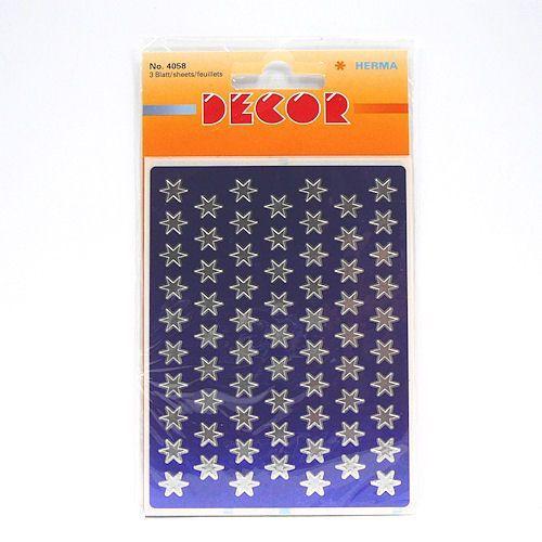 Naklejki  decor 4058 gwiazdki srebrne 8 mm x1 marki Herma