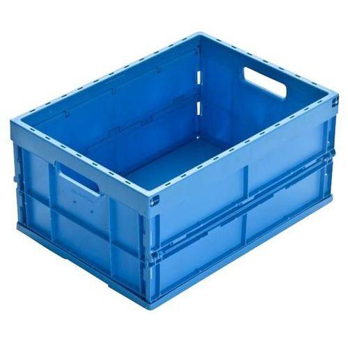Pojemnik składany z polipropylenu, poj. 32 l, niebieski. z polipropylenu o wysok marki Walther faltsysteme