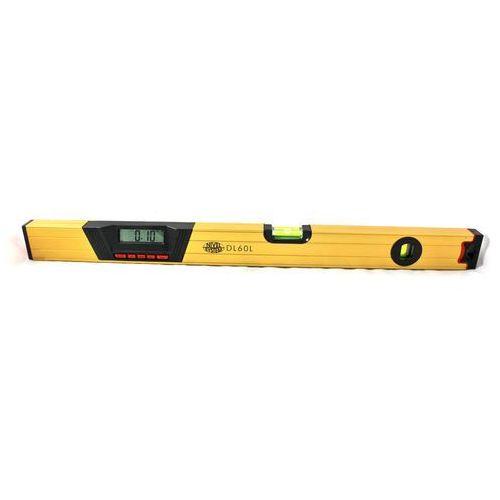 Poziomica elektroniczna z cyfrowym odczytem położenia i wiązką laserową (60cm)