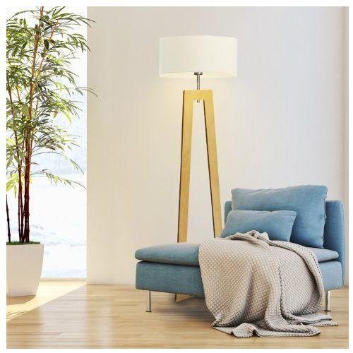 Lysne Lampa stojąca drewniana bali