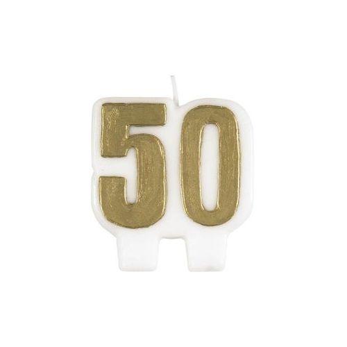 Świeczka na 50-tke złota - 1 szt.