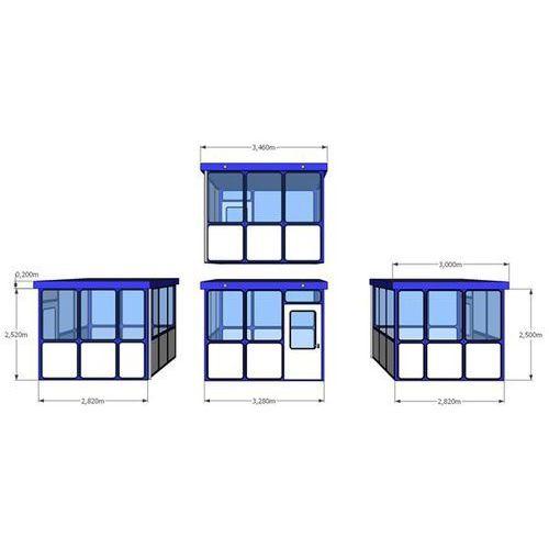 Budynek uniwersalny, wypełnienia z zaokrąglonymi narożnikami, na zewnątrz, dł. x