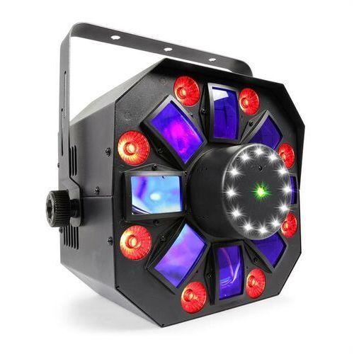 Beamz MultiAcis IV Projektor LED efekt derby, laser, wash i stroboskop tryb DMX/standalone