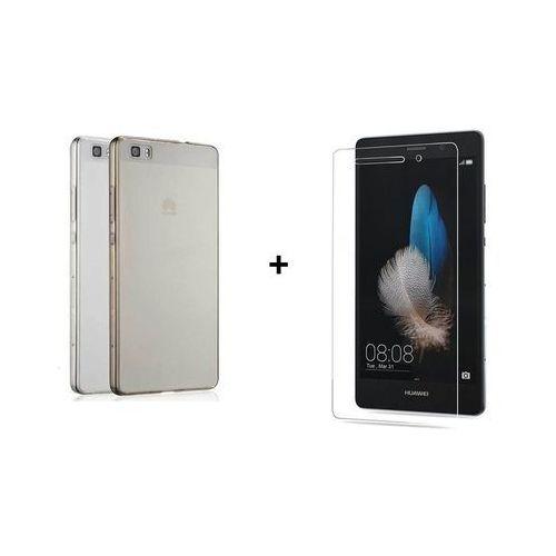 Ultra slim / perfect glass Zestaw szkło ochronne perfect glass + obudowa ultra slim przezroczysta huawei p8 lite