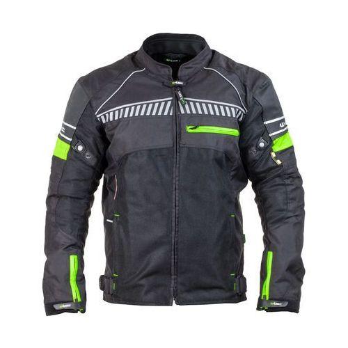 Męska kurtka motocyklowa W-TEC Meltsch NF-2301, Czarno-zielony neonowy, 4XL, 1 rozmiar