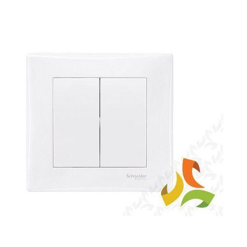 Wyłącznik podwójny schodowy biały SEDNA SCHNEIDER (8690495032789)