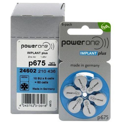 Varta 60 x baterie do aparatów słuchowych power one implant plus 675 mf