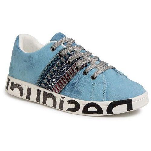 Sneakersy DESIGUAL - Shoes Cosmic Exotic Denim 20SSKD04 5008, kolor niebieski