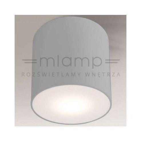 Sufitowa lampa plafon zama 1129/led/sz  natynkowa oprawa led 15w tuba szara marki Shilo