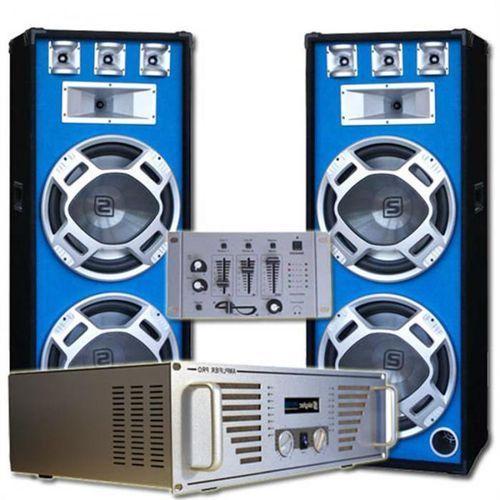 """Elektronik-star Kompletny zestaw dj """"bouncer"""" wzmacniacz kolumny mikser"""