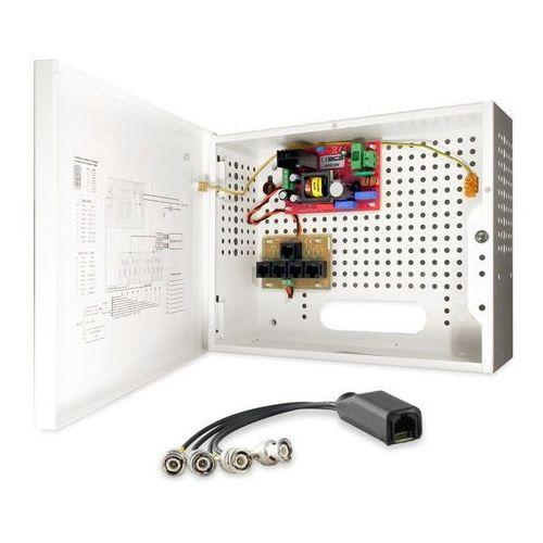 -a4/e zestaw zasilania i transmisji wideo dla 4 kamer analogowych lub hd-cvi bcs marki Bcs