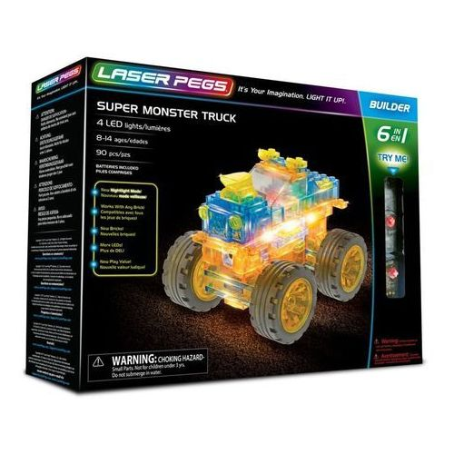 6 in 1 Super Monster Truck - Laser Pegs