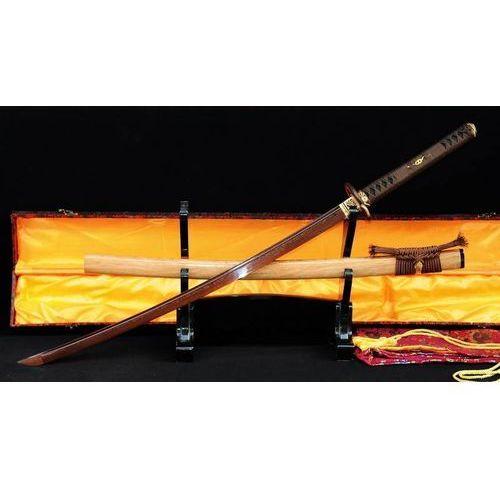Kuźnia mieczy samurajskich Miecz samurajski katana do treningu, stal warstwowana damasceńska, ręcznie kuta, r339
