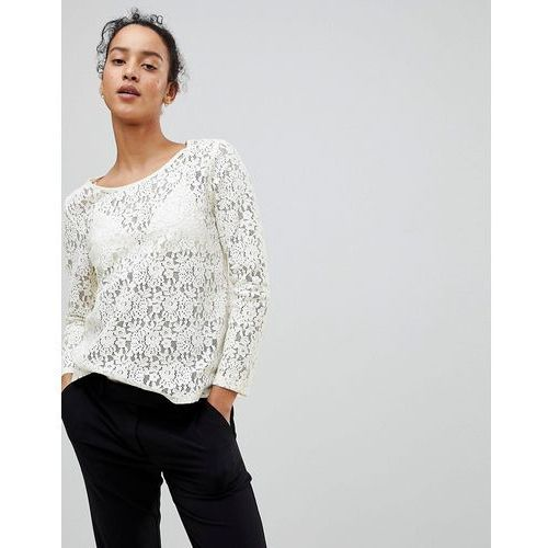 See u soon lace blouse - cream