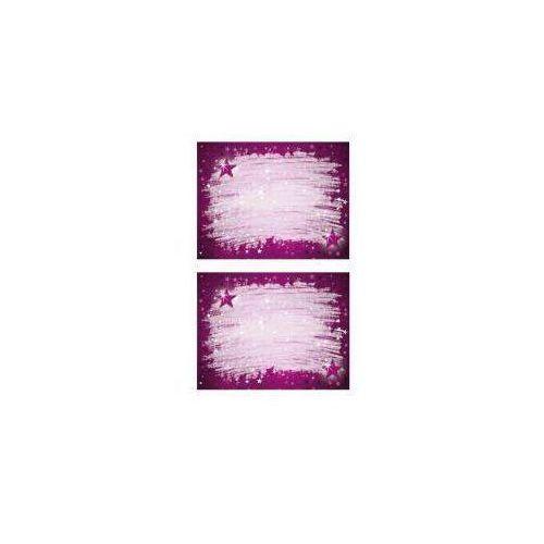 Zdesign Naklejki na zeszyty - fioletowe gwiazdy
