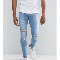 flurry muscle jean with rips light wash - blue, Blend
