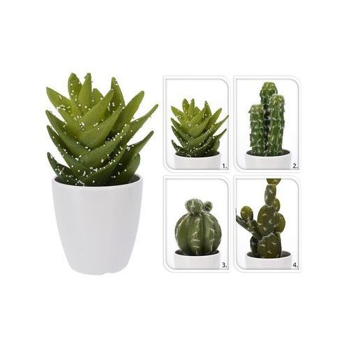 sztuczna roślina w doniczce Kaktus, THK-068561