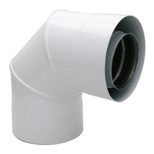 Kolano dwuścienne Spiroflex białe 90 stopni