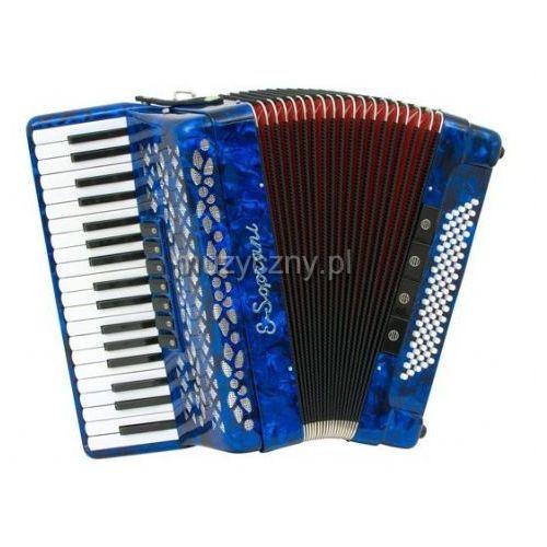E.soprani  809 k 37/3/7 80/5/4 akordeon (niebieski, czerwony miech)