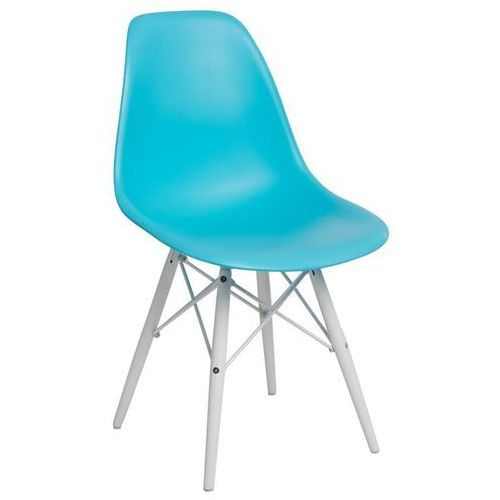 Krzesło P016W PP ocean blue/white, kolor biały