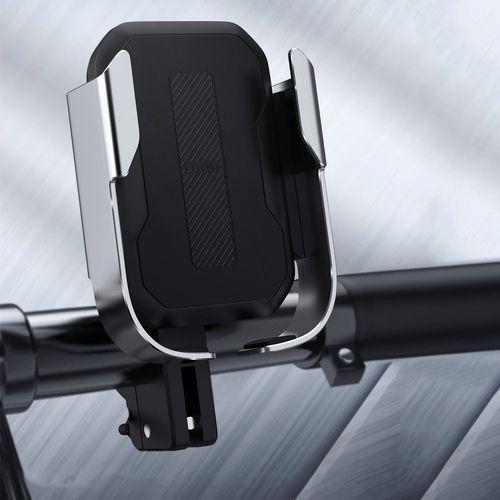 Baseus armor motorcycle holder | uchwyt do telefonu na rower motor skuter regulowany | czarny - czarny