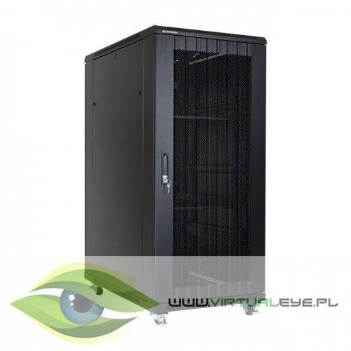 """szafa stojąca rack 19"""" 27u 600x1000mm czarna (drzwi perforowane) marki Linkbasic"""