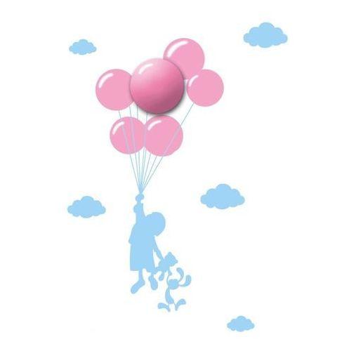 Lampka dziecięca Balony na baterie z naklejką