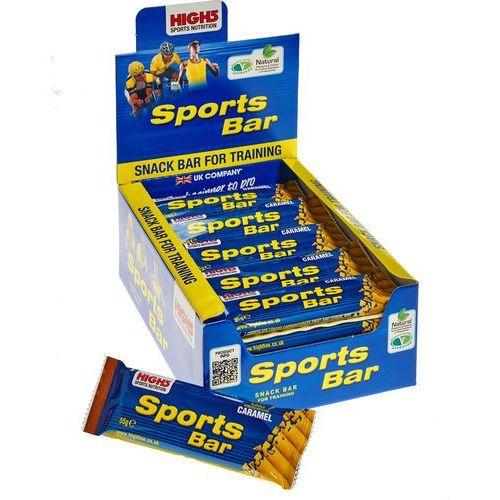 High5 sportbar żywność dla sportowców caramel 25 x 55g żółty/niebieski 2018 zestawy i multipaki (5027492998979)