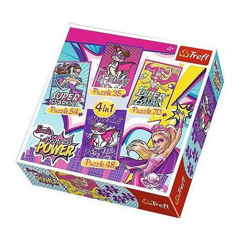 Trefl 35/48/54/70 Puzzle 4w1 barbie i jej super przyjaciele trefl