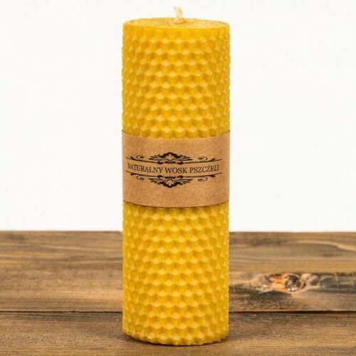 Świeca zwijana z węzy pszczelej walec W-05 (135 mm / 45 mm) Łysoń (5906660810667)