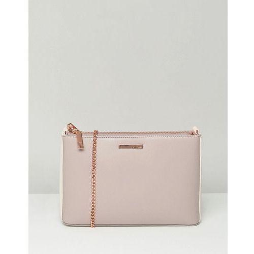 Ted Baker Crosshatch Cross Body Bag With Rose Gold Chain - Pink, kup u jednego z partnerów