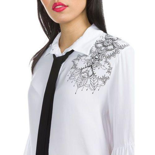 Desigual Birma Shirt Biały XS, wiskoza