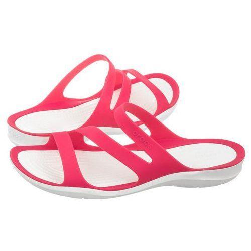 Klapki swiftwater sandal w paradise pink/white 203998-6nr (cr120-d) marki Crocs