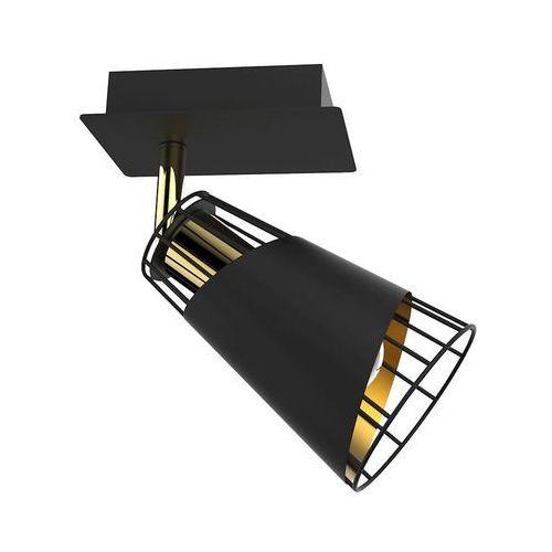 Milagro Rick ML5565 plafon lampa sufitowa 1x40W E14 czarny mat / złoty, ML5565