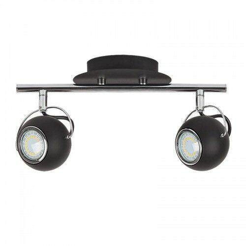 Rabalux Listwa lampa sufitowa bobby 2x9w gu10 czarny mat/chrom 6826