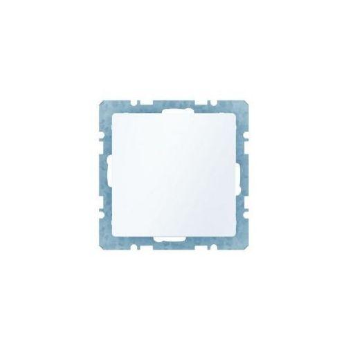 q.1 zaślepka z płytką czołową, bez pazurków rozporowych, biały, aksamit 10096089 marki Berker