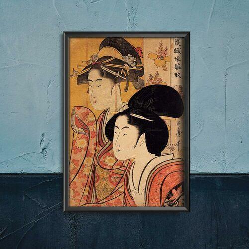 Plakat vintage do salonu Plakat vintage do salonu Dwie piękności z Bamboo