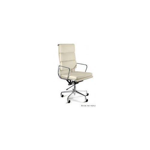 Krzesło biurowe wye hl beżowe czarne skóra marki Unique meble