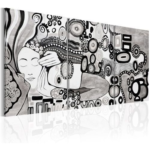 Obraz malowany - srebrny pocałunek marki Artgeist