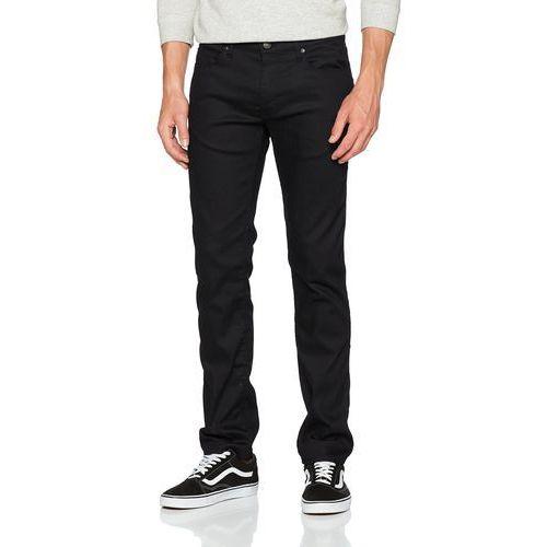 Hugo dżinsy 708 Slim Fit 50281893 dla mężczyzn - prosta nogawka W36/L32 czarny (black 001), jeansy