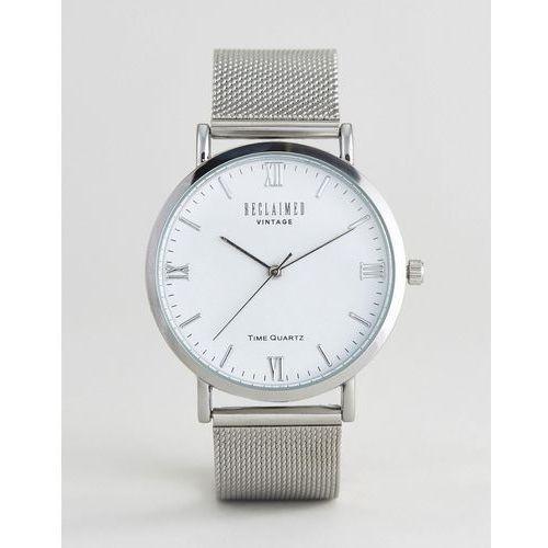 Reclaimed Vintage Mesh Strap Watch And Bangle Gift Set In Silver - Silver, kup u jednego z partnerów