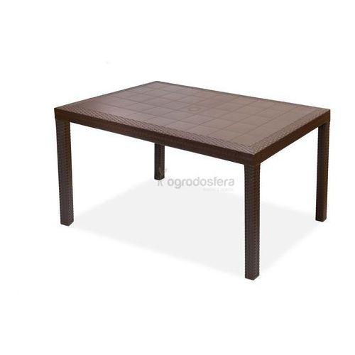 Stół technorattanowy Houston brązowy